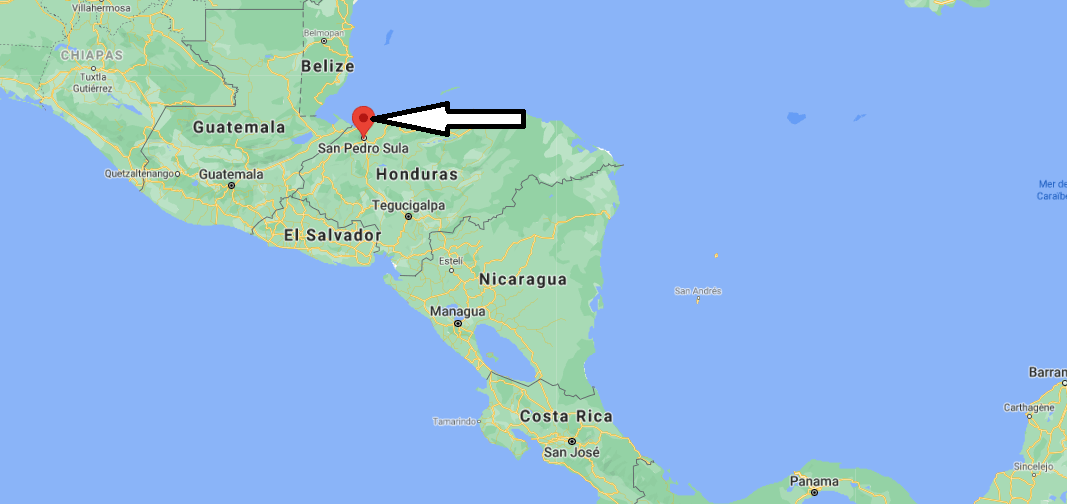 Où se trouve San Pedro Sula