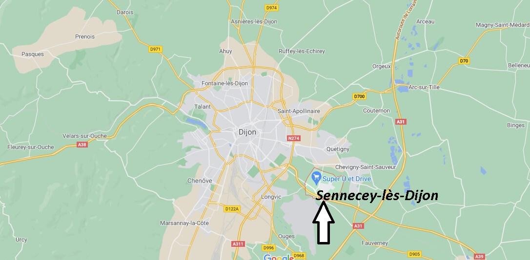 Où se trouve Sennecey-lès-Dijon