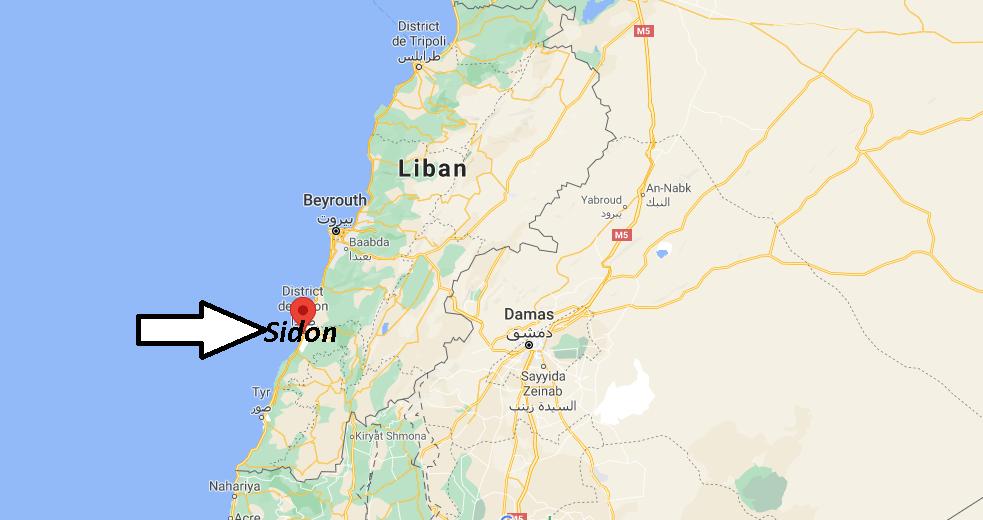 Où se trouve Sidon