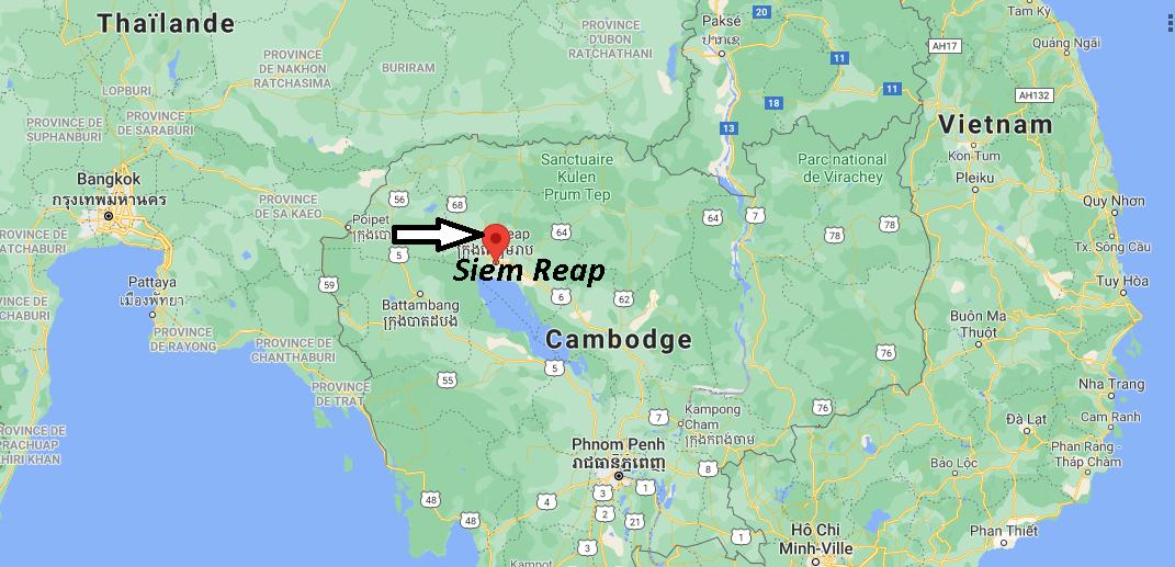 Où se trouve Siem Reap