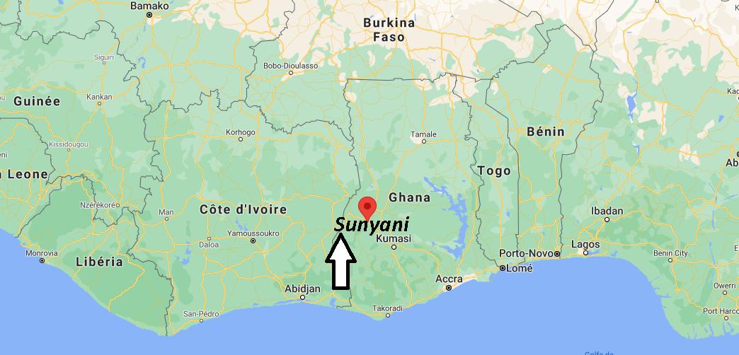 Où se trouve Sunyani