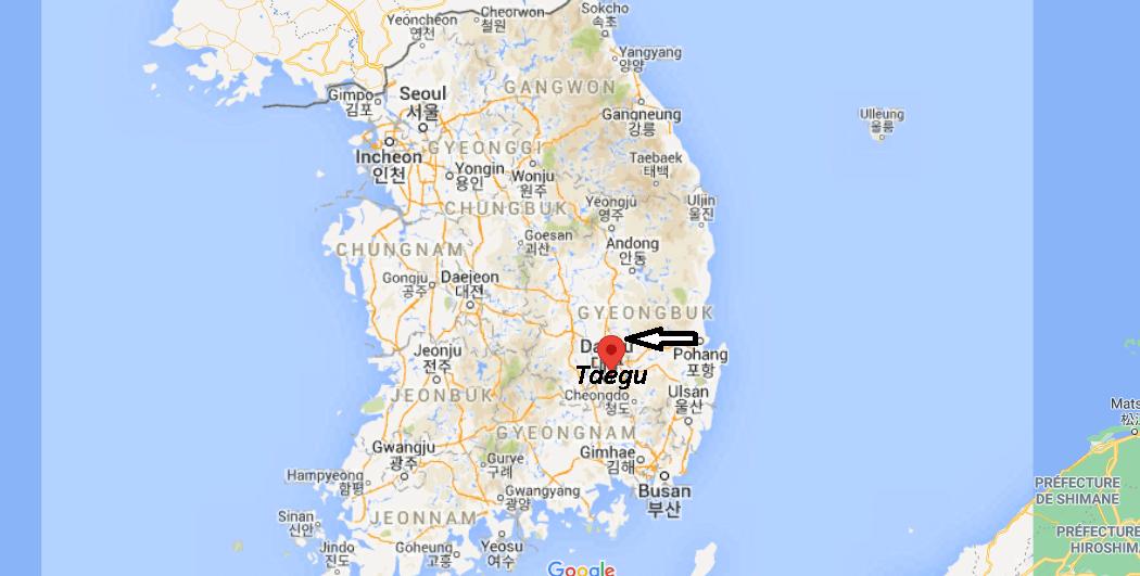 Où se trouve Taegu