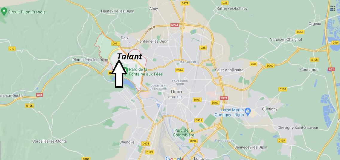Où se trouve Talant