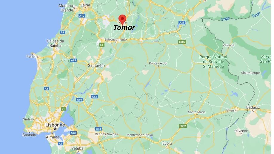 Où se trouve Tomar