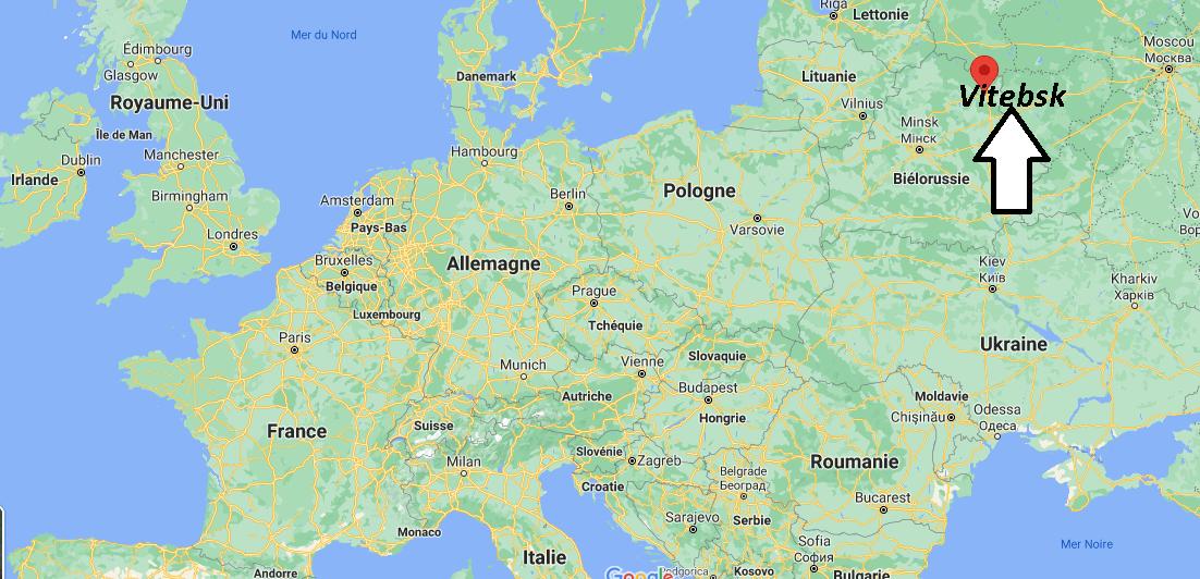 Où se trouve Vitebsk