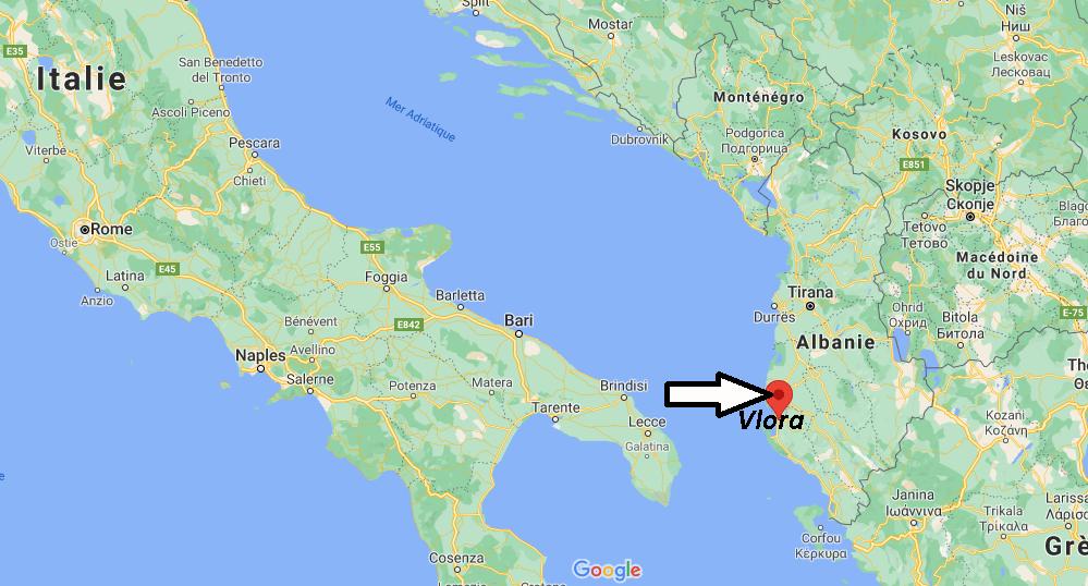 Où se trouve Vlora