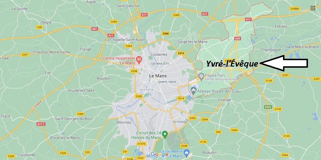 Où se trouve Yvré-l'Évêque