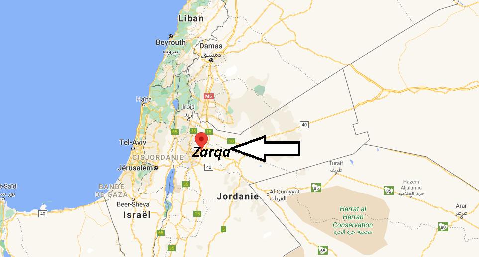 Où se trouve Zarqa