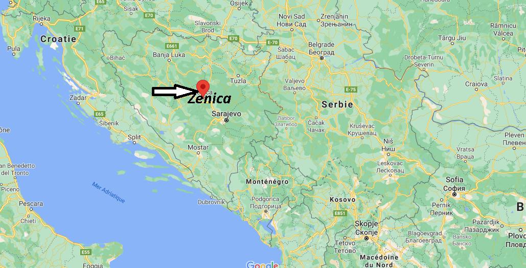Où se trouve Zenica