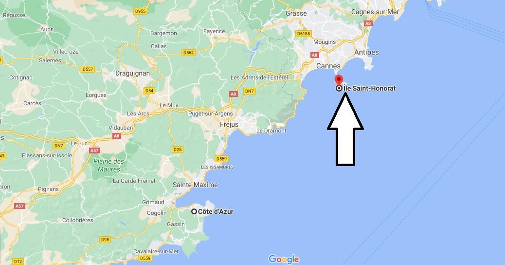 Où se trouve île Saint-honorat