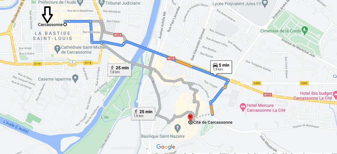 Où se trouve la cité de Carcassonne
