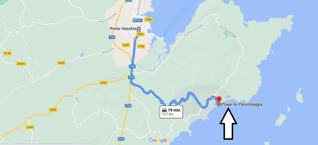 Où se trouve la plage de Palombaggia