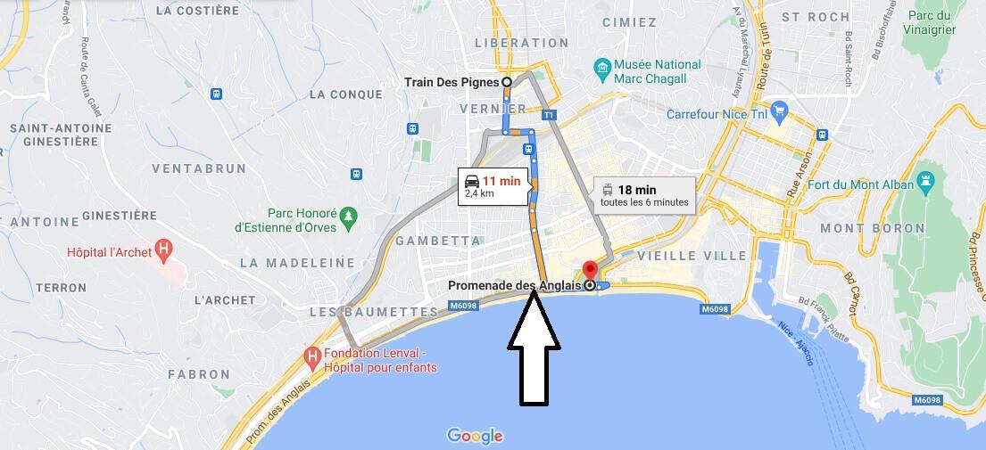 Où se trouve la promenade des Anglais