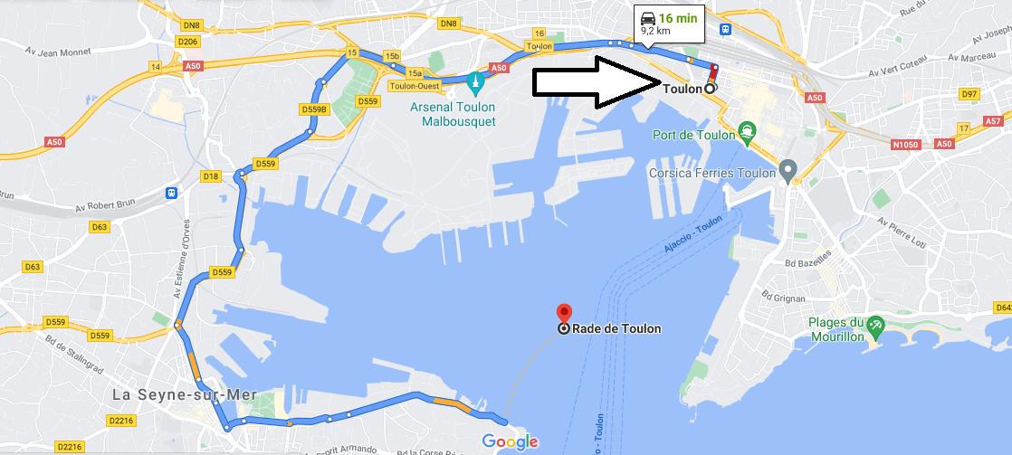 Où se trouve la rade de Toulon