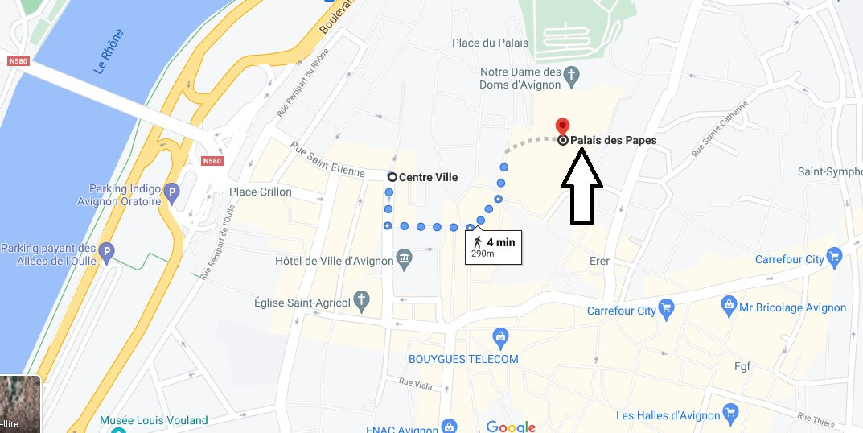Où se trouve le Palais des Papes