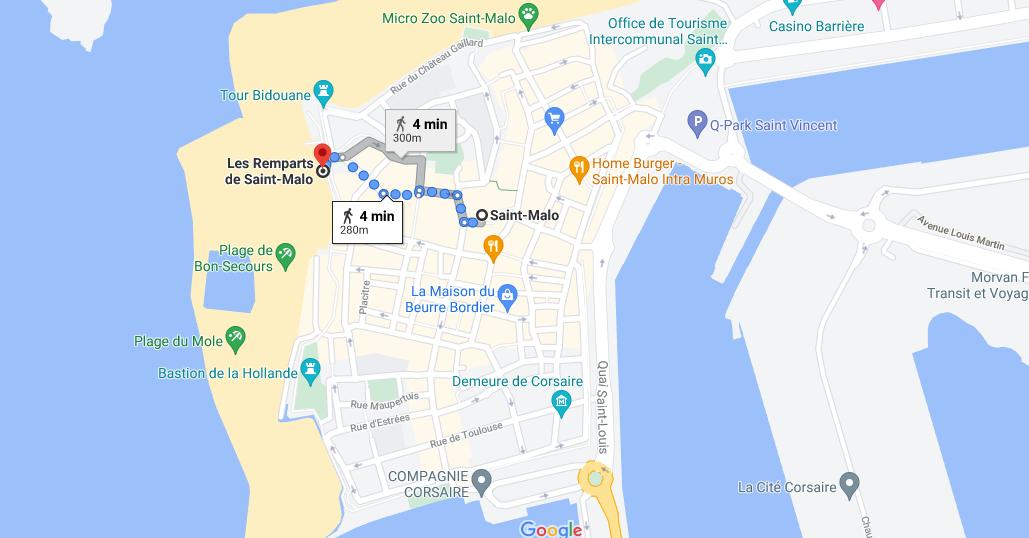 Où se situe Les Remparts de Saint-Malo