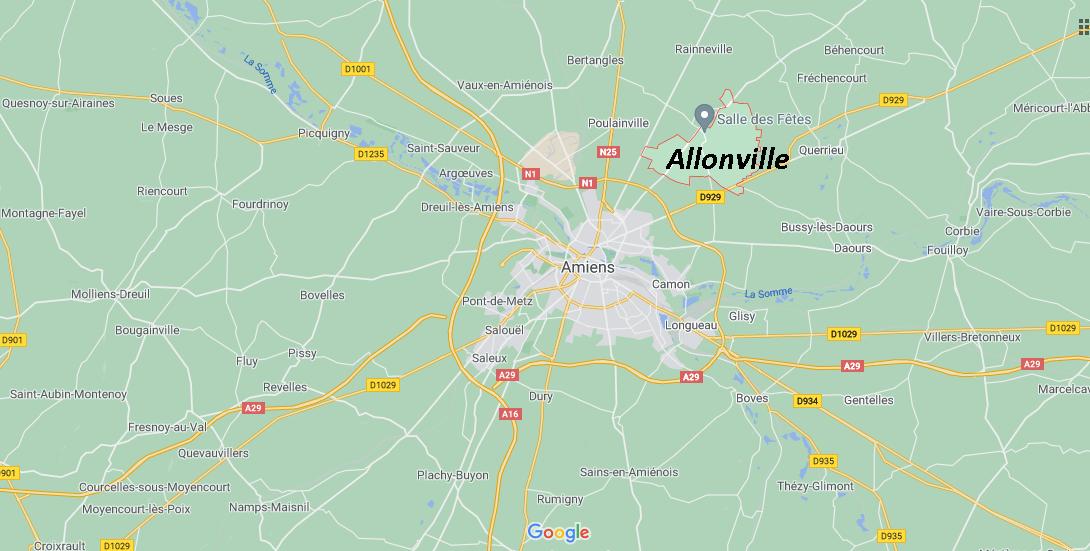 Où se situe Allonville (Code postal 80260)