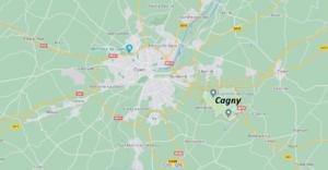 Où se situe Cagny (Code postal 14630)