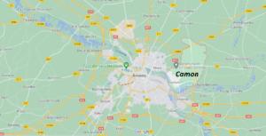 Où se situe Camon (Code postal 80450)