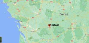 Où se situe Chaptelat (Code postal 87220)
