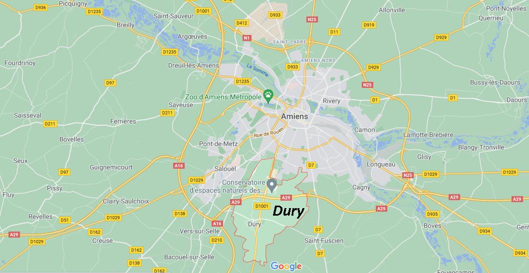Où se situe Dury (Code postal 80480)