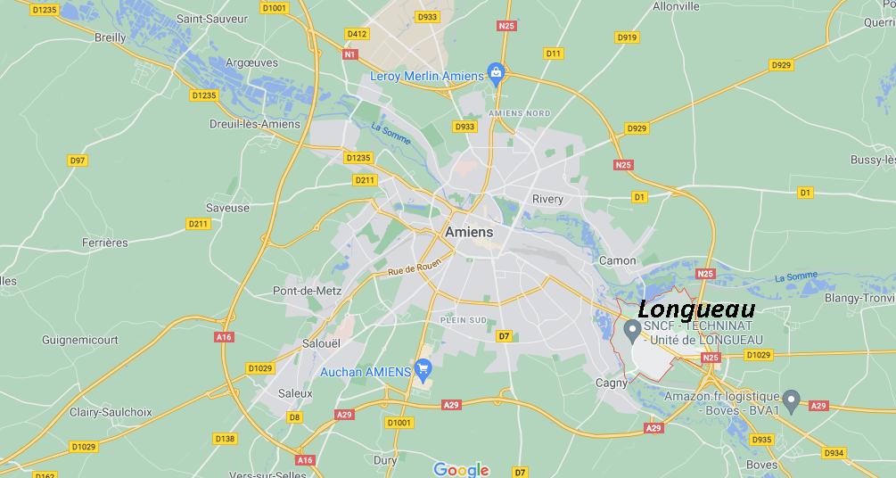 Où se situe Longueau (Code postal 80330)