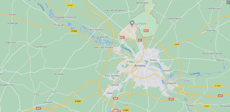 Où se situe Poulainville (Code postal 80260)