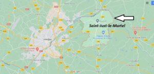 Où se situe Saint-Just-le-Martel (Code postal 87590)