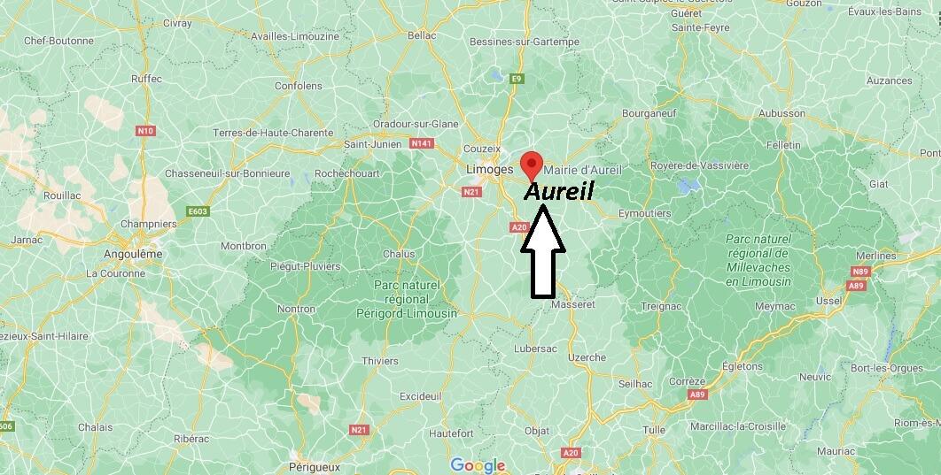 Où se trouve Aureil