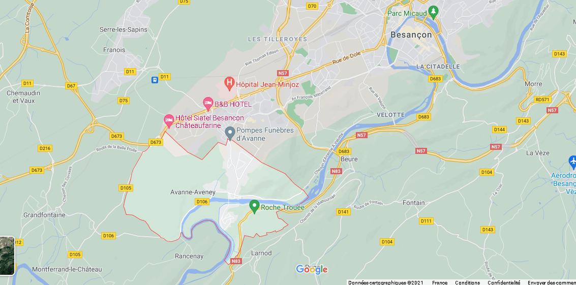 Dans quelle région se trouve Avanne-Aveney