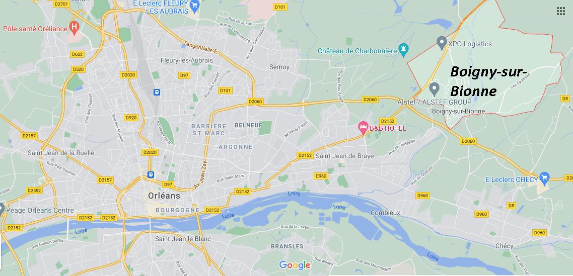 Dans quelle région se trouve Boigny-sur-Bionne