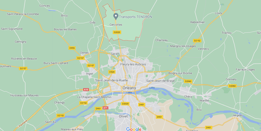Dans quelle région se trouve Cercottes