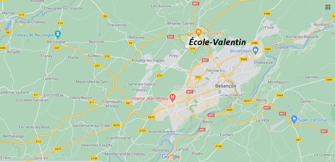 Dans quelle région se trouve École-Valentin
