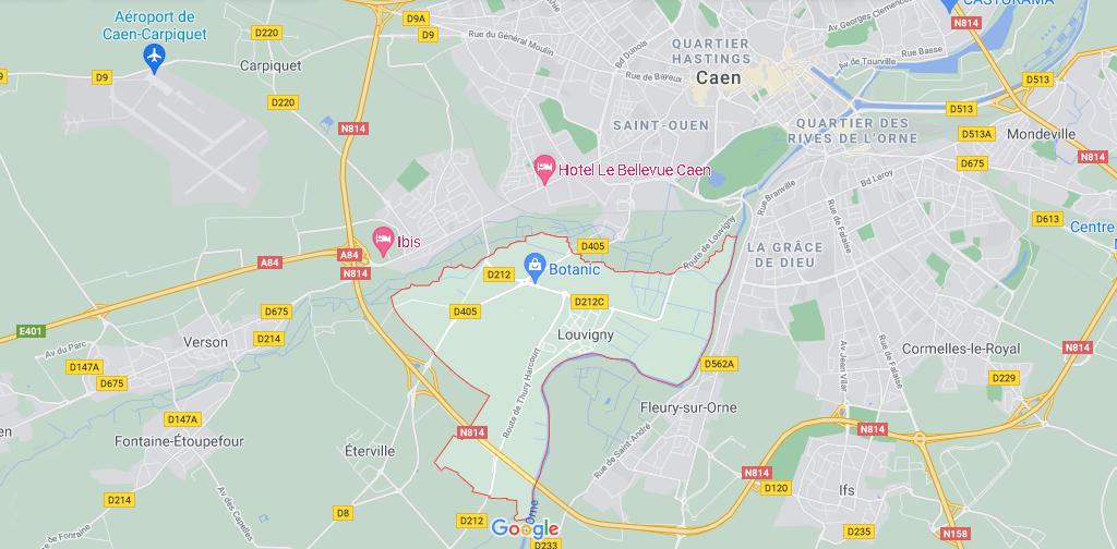 Dans quelle région se trouve Louvigny