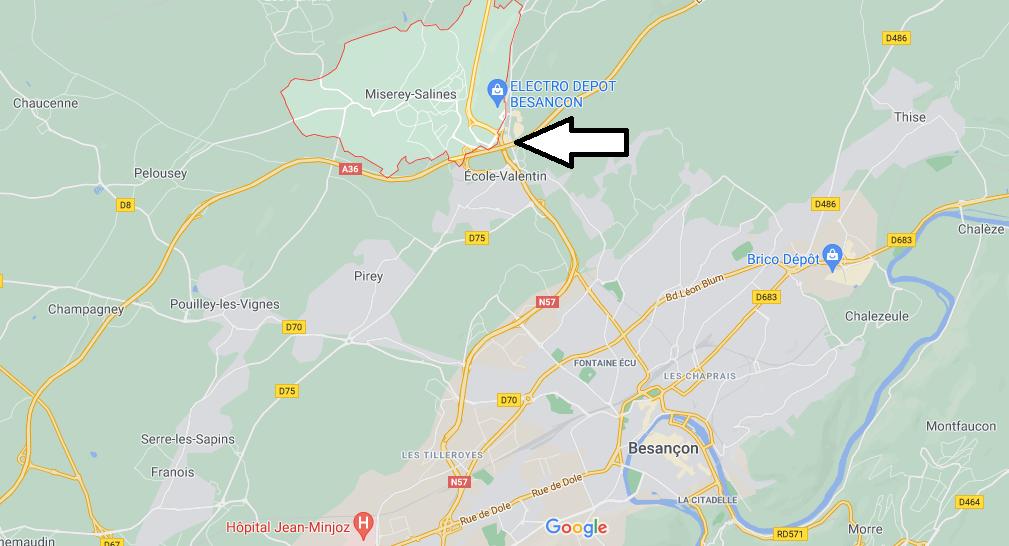 Dans quelle région se trouve Miserey-Salines