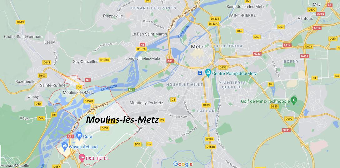 Dans quelle région se trouve Moulins-lès-Metz