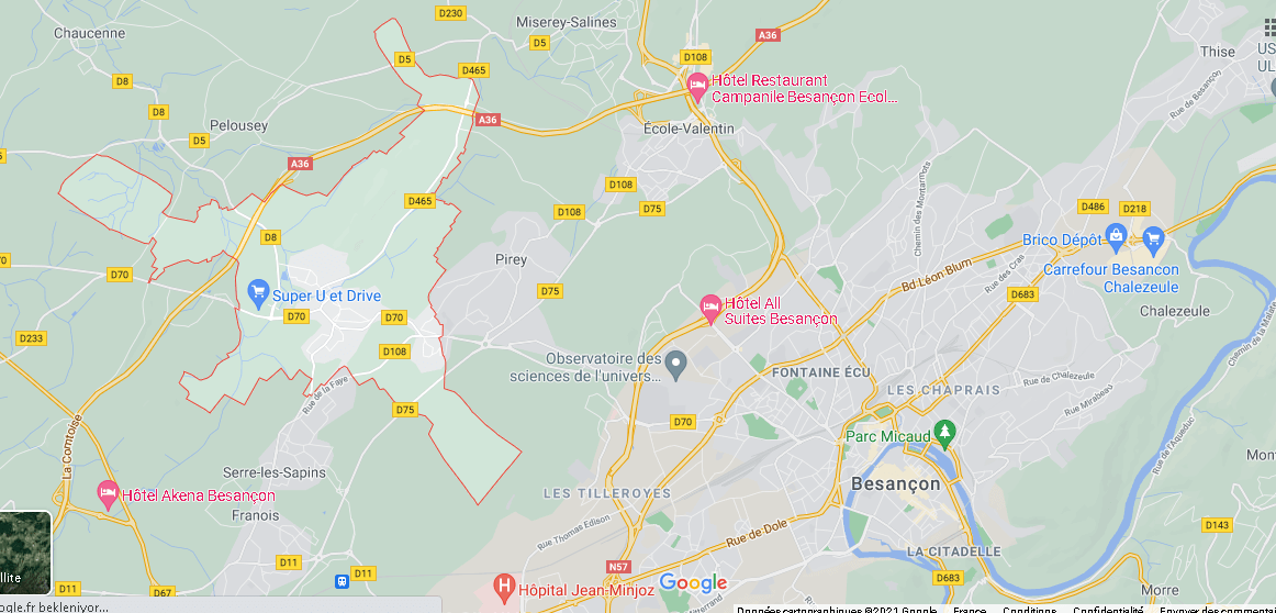 Dans quelle région se trouve Pouilley-les-Vignes
