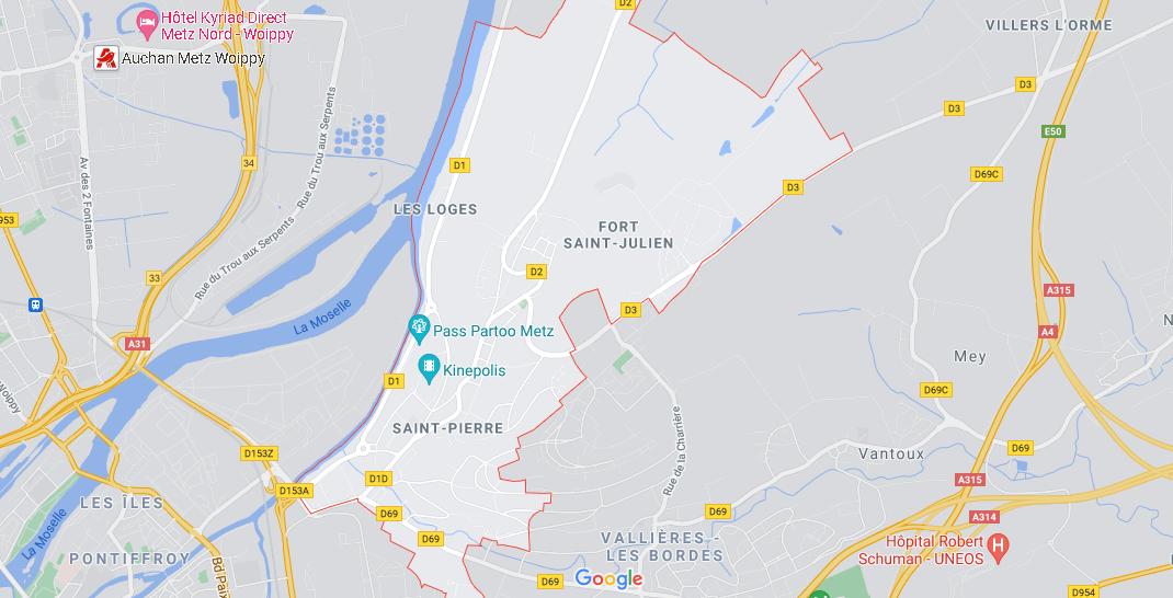 Dans quelle région se trouve Saint-Julien-lès-Metz