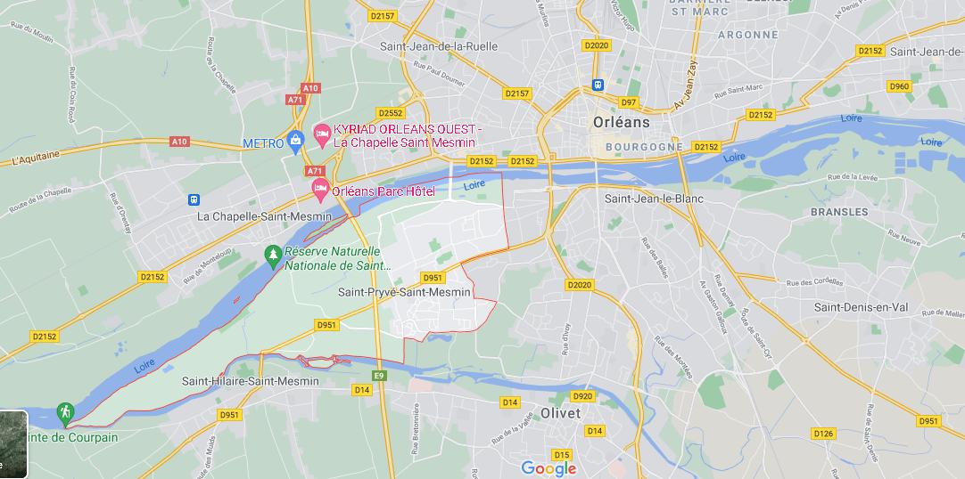 Dans quelle région se trouve Saint-Pryvé-Saint-Mesmin