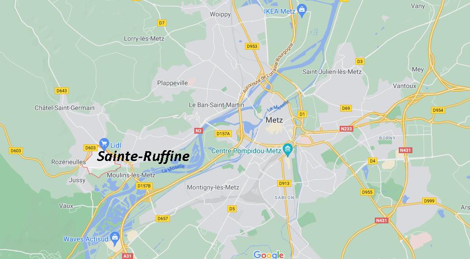 Dans quelle région se trouve Sainte-Ruffine