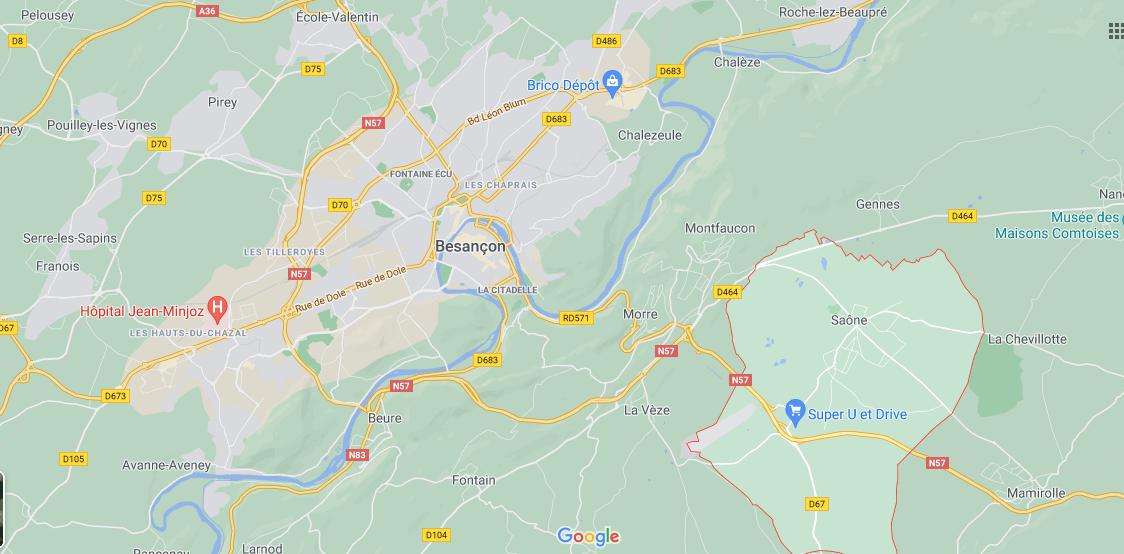 Dans quelle région se trouve Saône