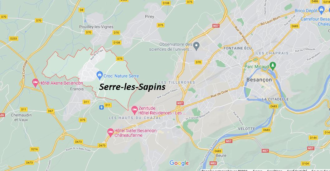 Dans quelle région se trouve Serre-les-Sapins