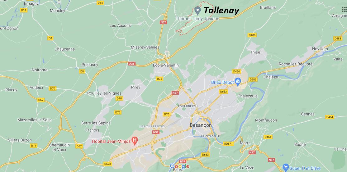 Dans quelle région se trouve Tallenay