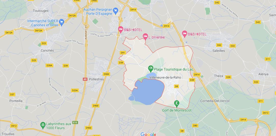 Dans quelle région se trouve Villeneuve-de-la-Raho