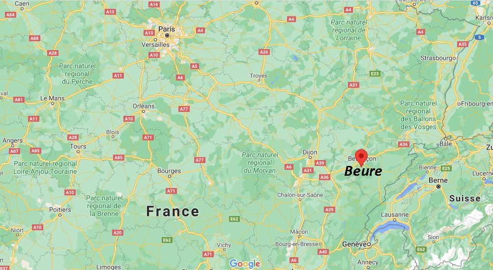 Où se situe Beure (Code postal 25720)