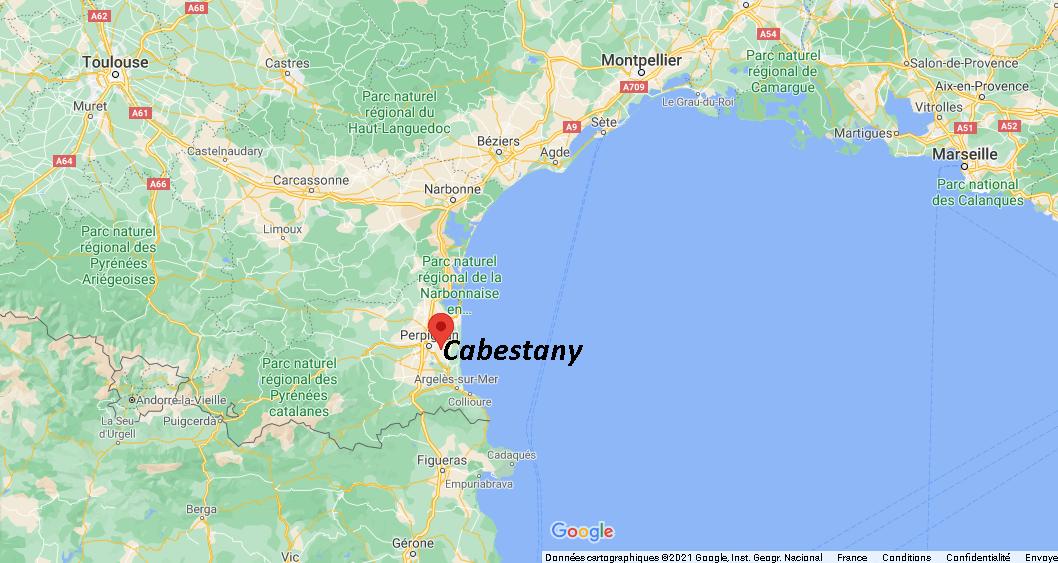 Où se situe Cabestany (Code postal 66330)