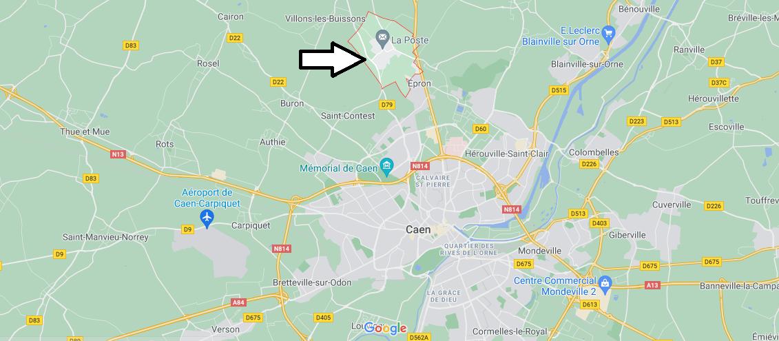 Où se situe Cambes-en-Plaine (Code postal 14610)