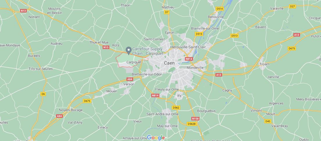 Où se situe Carpiquet (Code postal 14650)