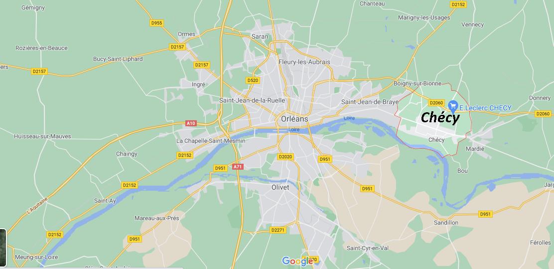 Où se situe Chécy (Code postal 45430)