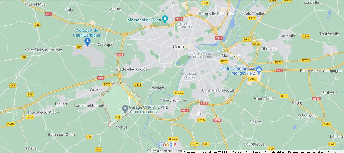 Où se situe Éterville (Code postal 14930)